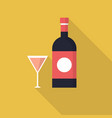 wine icon set of great flat icons design vector image