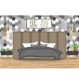 Loft Style Interior Design Bed vector image