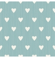 Abstract seamless retro pattern with hearts vector image