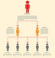 Organization chart infographics design vector image