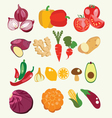fresh and healthy food Vegetables made in flat vector image