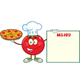 Italian Chef Tomato Cartoon vector image