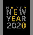 2020 broken golden numbers vector image vector image