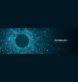 3d abstract technology particles blue vector image
