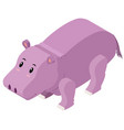 3d design for cute hippo vector image