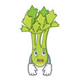 afraid celery mascot cartoon style vector image vector image