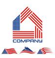 american real estate logo vector image vector image