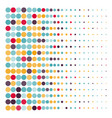 background with colored dotted circles in a vector image