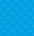 baseball cap pattern seamless blue vector image vector image