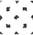 beagle dog pattern seamless black vector image