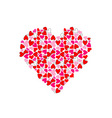 Big heart made of small hearts vector image