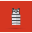 Blank singlet template - front and back vector image vector image