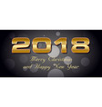 bokeh 2018 happy new year card with gold text vector image vector image