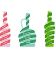 Bottles wine icons vector image