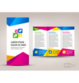 Brochure triangles colorful vector image vector image