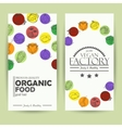 card with organic vegetables vector image vector image