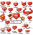 cartoon hearts vector image