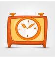 cartoon home clock vector image