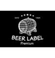 cask sketch Set of Vintage Logo Templates For Beer vector image vector image