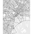 city map of tokyo in black and white vector image
