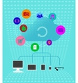 Colored cloud technologies - Infographics vector image vector image