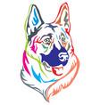colorful decorative portrait of german shepherd vector image vector image