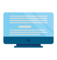 computer monitor device vector image