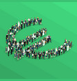 crowd people isometric euro sign vector image