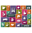 culture and sights of spain vector image