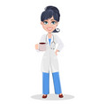 doctor woman professional medical staff vector image vector image