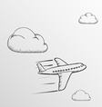 Doodle Airplane Stock vector image vector image