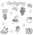 Doodle of element Thanksgiving vector image vector image