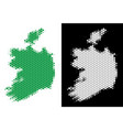 dotted halftone ireland republic map vector image