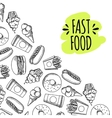 Fast food Set of cartoon icons vector image