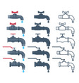 faucet icon water valve silhouette tap vector image vector image