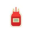 flat blood donation transfusion bag vector image