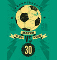 football typographic vintage grunge style poster vector image vector image