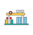 gas station line icon concept gas station flat vector image