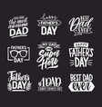 happy fathers day lettering calligraphic vector image