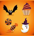 happy halloween design elements vector image vector image