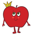 image apple with crown or color vector image