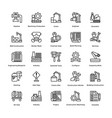 industrial and construction line icon set 4 vector image vector image