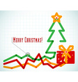 Infographic styled office Christmas card vector image vector image