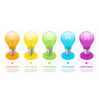 isometric lightbulb infographics ideas concept vector image vector image