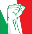 Italy fist vector image vector image