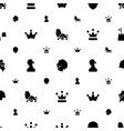 king icons pattern seamless white background vector image vector image