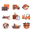 Logistic Services Icons Set vector image vector image