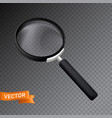 magnifying glass with dark handle 3d realistic vector image vector image