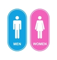 men and women white sign vector image vector image