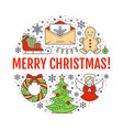 merry christmas new year banner vector image vector image